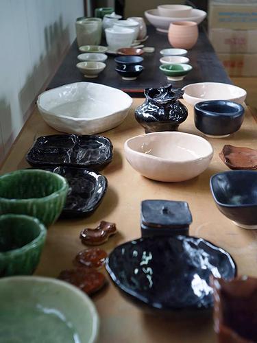 カフェギャラリージユクで陶芸教室